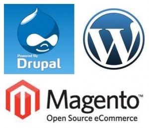 Drupal Magento et WordPress